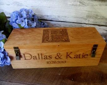 Personalized Wine Box for Weddings, Anniversary, Wedding Wine Ceremonies