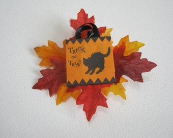 Halloween Brooch Trick Or Treat With Fall Leaves Halloween Jewelry Accessories Woman Teen