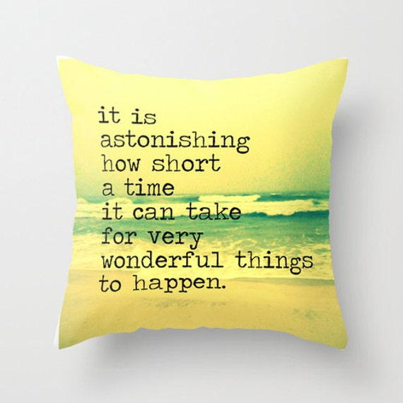 Items similar to Inspirational Pillow Cover, Inspirational Gifts for Her Graduation Gift ...