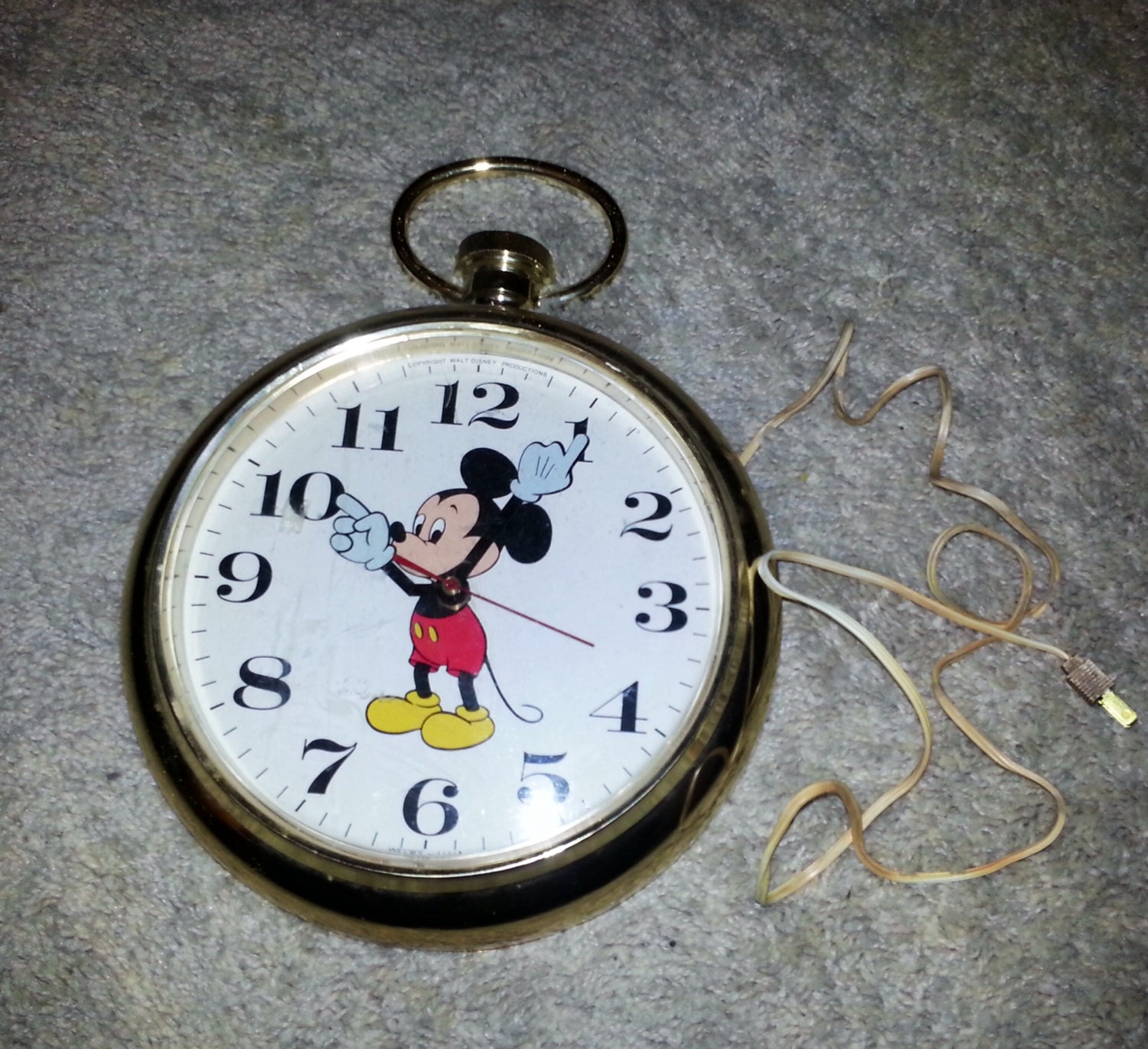 Vintage Electric Mickey Mouse Wall Clock