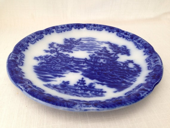 Sale ford sons antique victorian flow blue plate japanese
