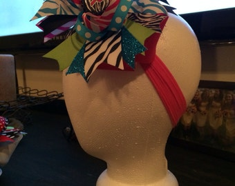 OTT Zebra Hair Bow