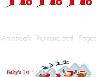 12x12 1-page Personalized Scrapbook  Paper (Christmas 7)