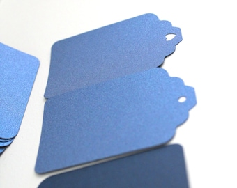 50pc Navy blue gift tags, Shimmer gift tags, Metallic blue tags, Blue wedding tags, Blue wedding favors, Blue Party favors, Navy wedding tag