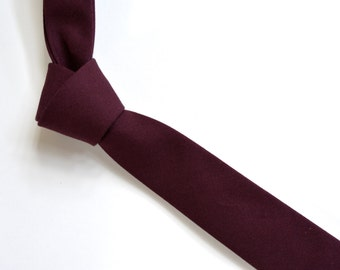 Men's neck Tie-burgundy neck tie for men, weddings