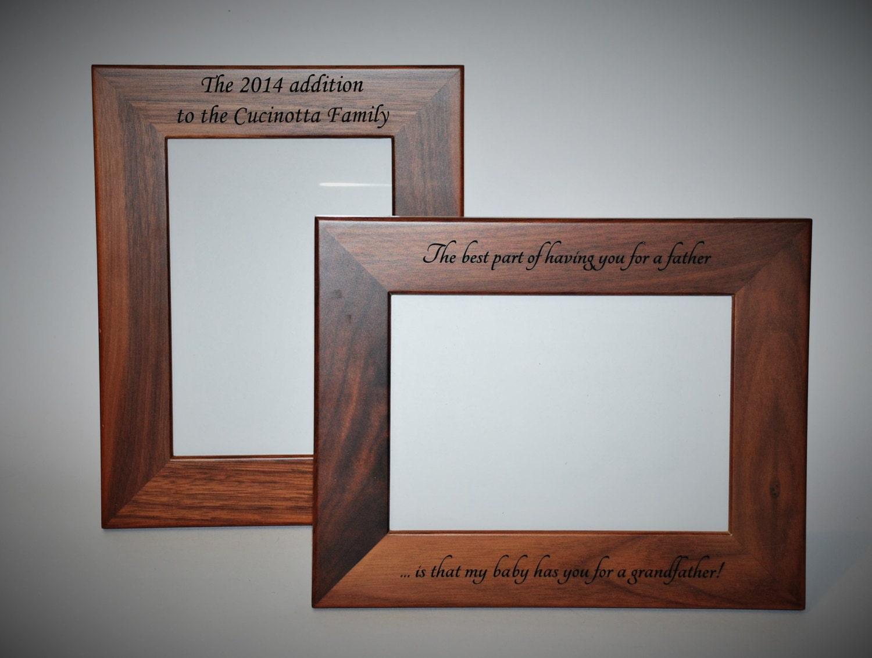 5x7 laser engraved walnut wooden picture frame custom picture. Black Bedroom Furniture Sets. Home Design Ideas