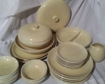 Russel Wright Iroquois Casual Lemon Yellow (BUTTERY variant) Lot