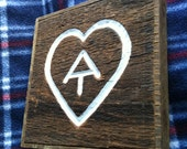 TRAIL LOVE! Hand-carved Appalachian Trail sign from reclaimed wood