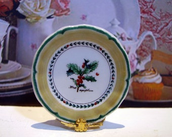 Christmas Villeroy & Bosch Style  Miniature Plate for Dollhouse 1:12 scale