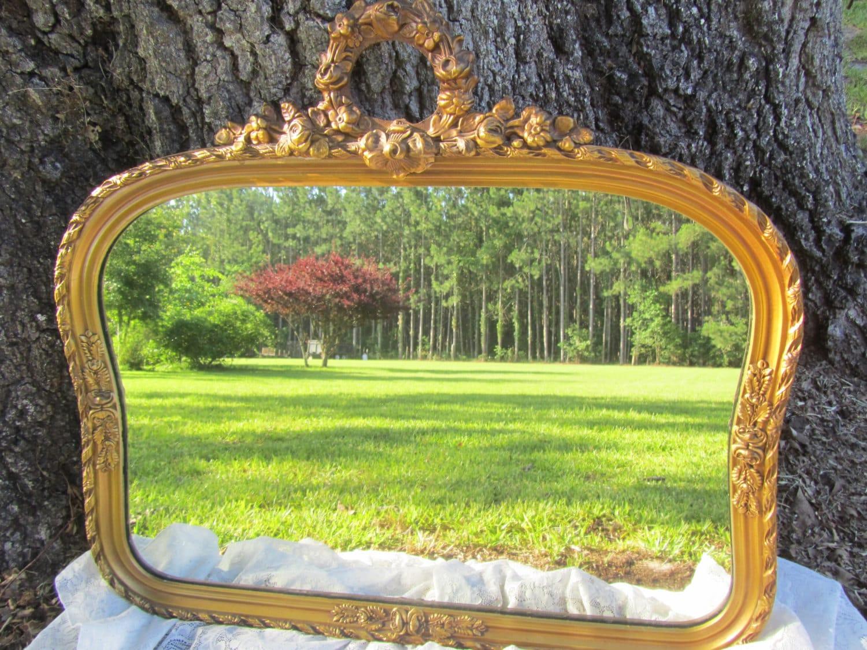 antique mirror vintage mirrorgold gilt frame wood frame. Black Bedroom Furniture Sets. Home Design Ideas