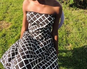 Black and white strapless dress Size 11