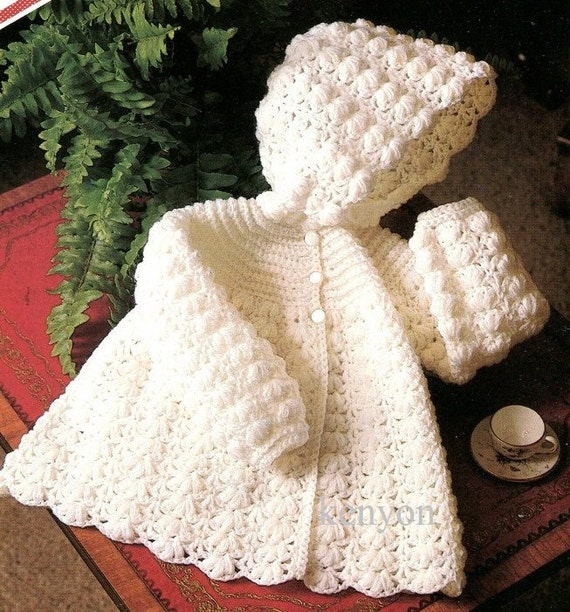 Knitting Pattern For Baby Hooded Sweater - Bronze Cardigan