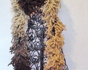 Brown and Tan Varigated Fashion Scarf