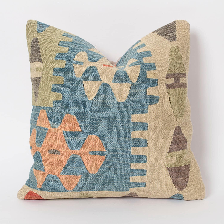 Pastel Kilim Pillow Etsy Kilim Pillows Decorative By Pillowme