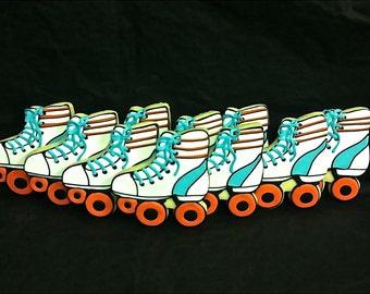 Roller Skate Cookie Favors, Roller Skate Birthday Cookies, Roller Skate Party Cookies, Roller Rink Party Cookies, Birthday party cookies