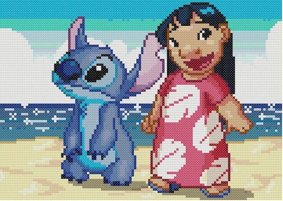 Disney cross stitch pattern lilo and stitch cross stitch pattern ...