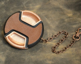 COPPER - CameraPunk™ Lens Cap DELUXE with chain