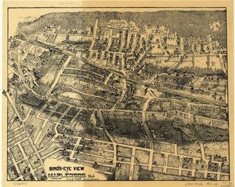 "Maplewood, New Jersey (1910) ""Bird's Eye View"" -Photo Print"