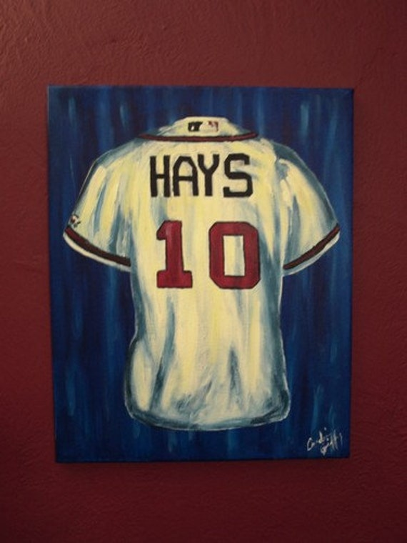 18x24 Custom Jersey Painting By Iiirdgenstudiosart On Etsy