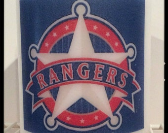 Texas Rangers Hurricane Candle Holder
