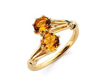 Citrine Ring, Birthstone ring, gold birthstone ring, fashion ring, large citrine ring, birthstone jewelry, gold ring, November jewelry