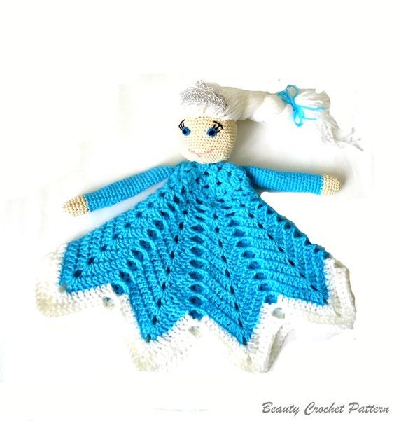 Crochet Pattern Baby Lovey : Crochet Lovey Pattern Ice Queen Baby Security Blanket