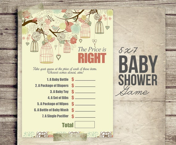 baby shower game baby shower price is right guess baby item prices
