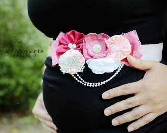 Pink Maternity Sash- Newborn Prop- Belly Sash- Do Not Open Maternity Sash,Baby Shower Sash, Pink Pregnancy Belt, Baby Girl Sash,It's a Girl