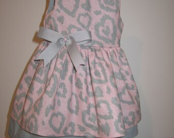 """Gray and pink dress for 18"""" dolls"""