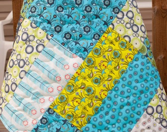Gender Neutral Petite Plume(Blue) Baby/Toddler Quilt