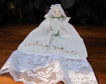 Vintage Hankie Doll - Hanky Doll - Folk Art Hankie Doll