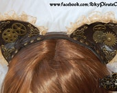 Steampunk Kitty Cat Ears Headband