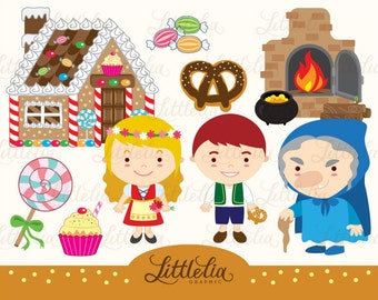 Hansel and Gretel clipart set/ instant download - 14019