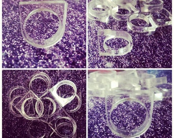 Laser Cut Acrylic Single Finger Ring Base