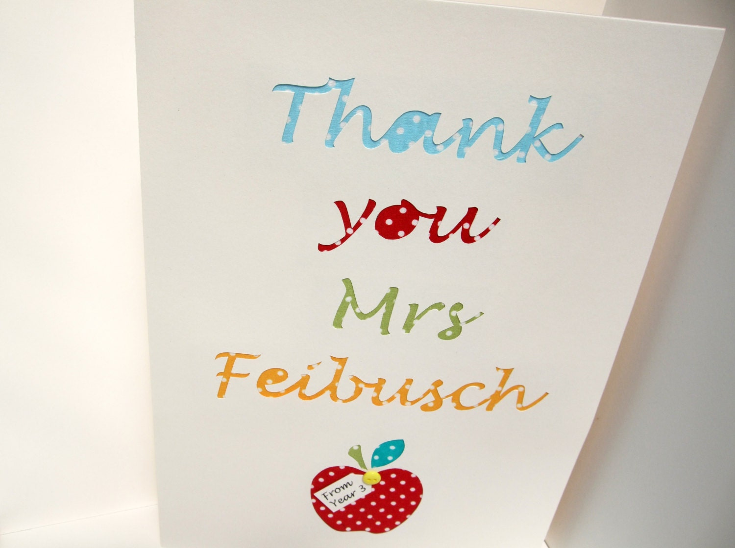 Large Personalised Teacher Thank You Card Big A4 Teacher – Large Personalised Birthday Cards