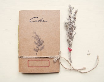 Notebook mediterranean herbarium, botanical notebook, eco-friendly recycled paper journal