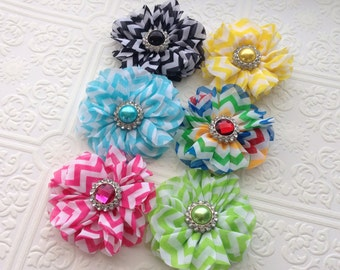 The Chevron Puff Headband or Hair Clip- Your Color Choice