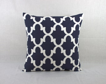 Square Throw Pillow Cover - 18x18 Navy Pillow Cover - Navy Throw Pillow Cover - Moroccan Covers - Decorative Pillow - Pillow Covers