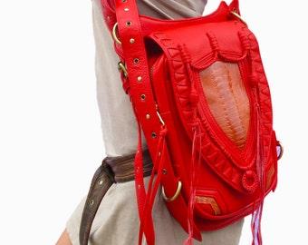 Leather holster, leather utility belt, festival belt, steam punk belt, tribal jungle, navajo, midwestern, cowgirl,messenger bag