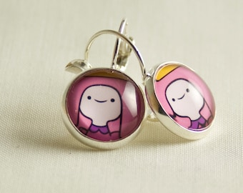 Adventure Time stainless steel Earrings / Princess Bubblegum / Exclusive for Adventure Time Lovers