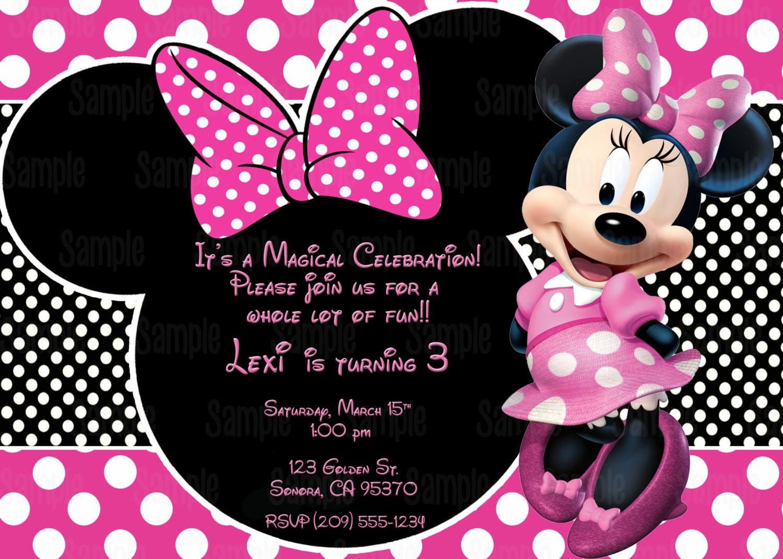 Custom Made Minnie Mouse Invitations was good invitation ideas