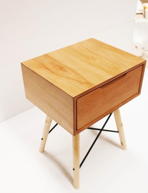 handmade scandinavian nightstand mid by craftworksfurniture