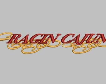 GG 1250 Ragin Cajun Embroidery Design