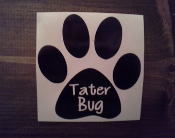 "Personalized 5""x5"" Paw Print Vinyl Vehicle Decal with Pet Name"