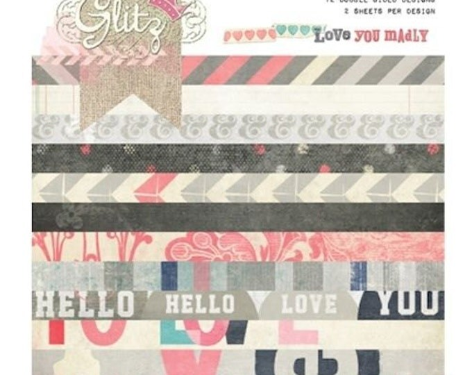 Glitz Design LOVE YOU MADLY 6x6 Paper Pad - Perfect for Cardmaking and Mini Albums!