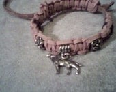 Braided Leather Wolf Talisman Bracelet