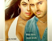 Bollywood Movie Poster - Original hand painted on canvas