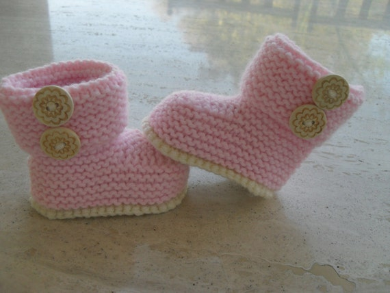 Instant Download Knitting Pattern Baby Girl Booties/Boots