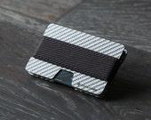 Men's carbon wallet, credit card wallet, women's wallet, men's wallet, minimalist wallet, slim wallet, modern design, N wallet