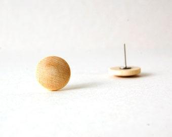Boucle d'oreille en bois pour homme